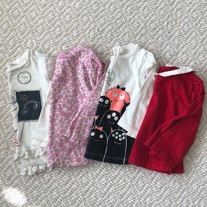 Baby girl Gap log sleeve tops